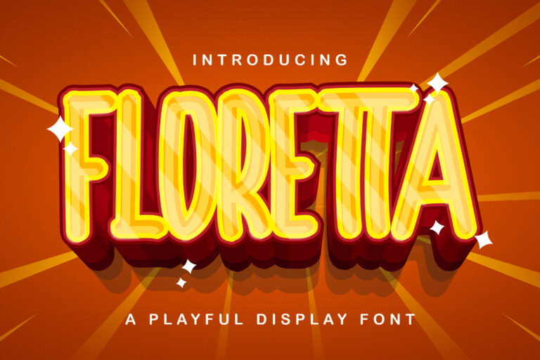 Preview image of FLORETTA – Playful Display Font