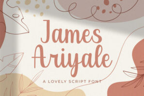 James Ariyale - Handwritten Font