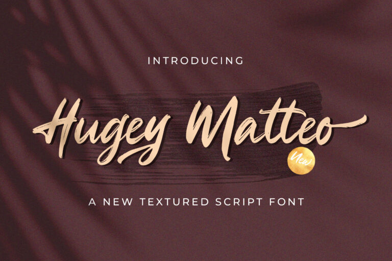Preview image of Higuey Matteo – Textured Brush Font