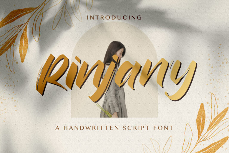 Preview image of Rinjany – Textured Brush Font