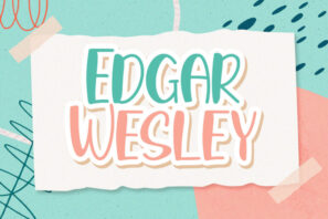 Edgar Wesley - Playful Display Font