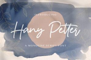 Hany Petter - Handwritten Font