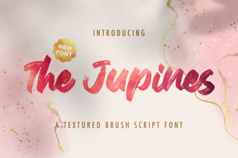 Preview image of The Junipes – Textured Brush Font