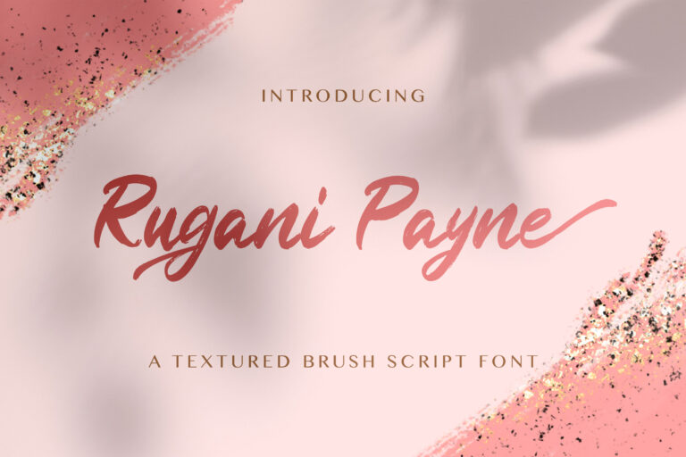 Preview image of Rugani Payne – Textured Brush Font