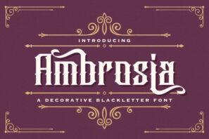 Ambrosia - Blackletter Font
