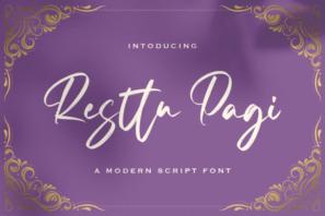Resttu Pagi - Handwritten Font