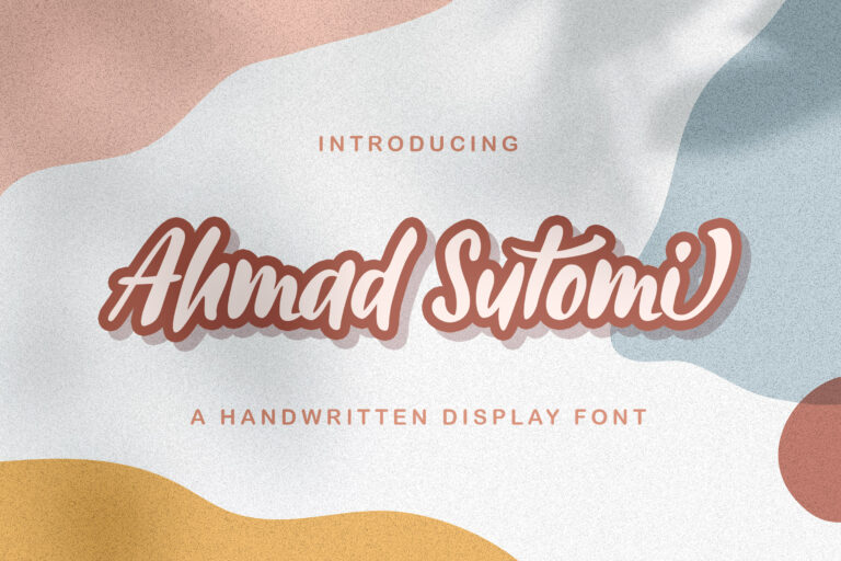 Preview image of Ahmad Sutomi – Handwritten Font