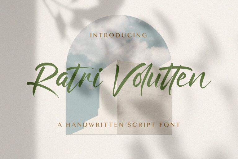 Preview image of Ratri Volutten – Handwritten Font
