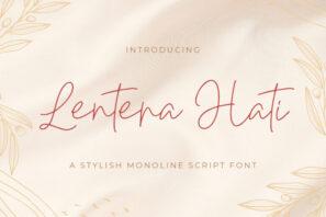 Lentera Hati - Handwritten Font