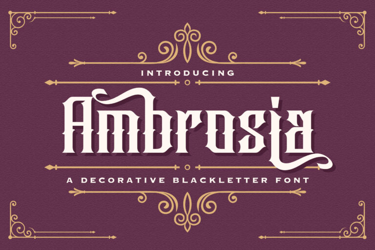 Preview image of Ambrosia – Blackletter Font