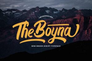 Boyna - Bold Script Font