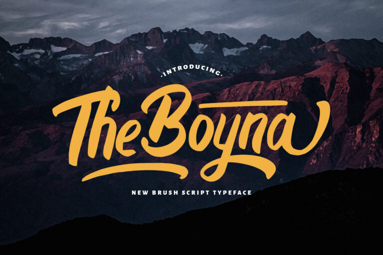 Preview image of Boyna – Bold Script Font