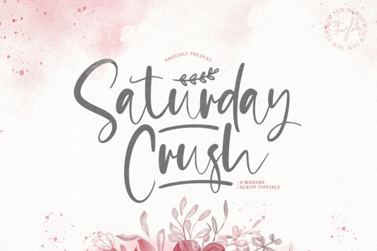 Preview image of Saturday Crush – Handwritten Font