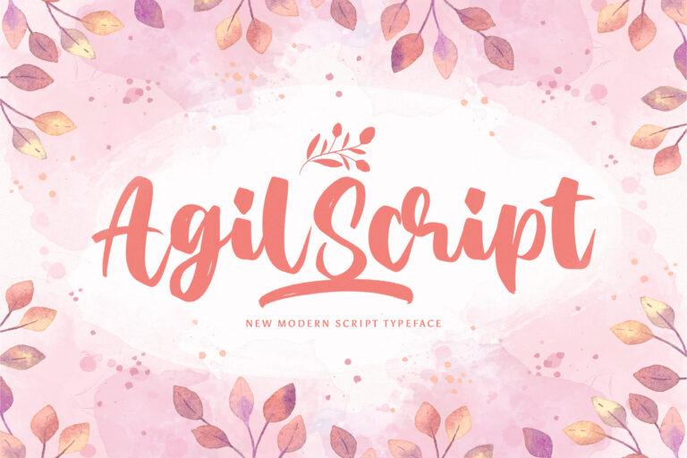 Preview image of Agil Script – Handwritten Font