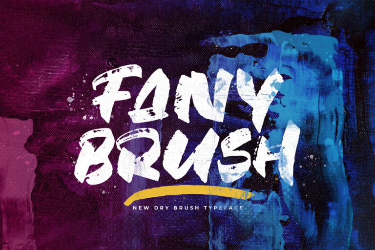 Preview image of Fany Brush – Textured Brush Font