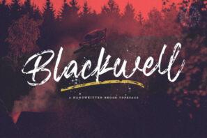 Blackwell - Textured Brush Font