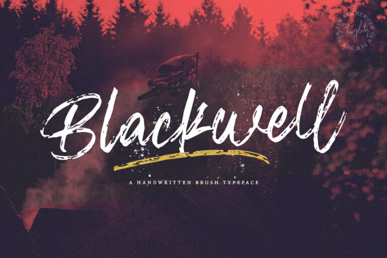 Preview image of Blackwell – Textured Brush Font