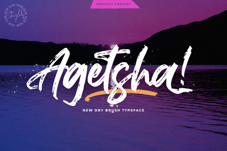 Preview image of Agethsa – Textured Brush Font