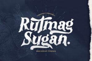 Rutmag Sugan - Decorative Display Font