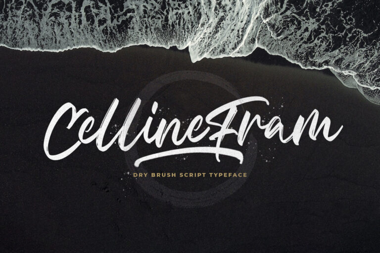 Preview image of Celline Fram – Textured Brush Font