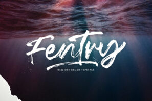 Fentry - Textured Brush Font
