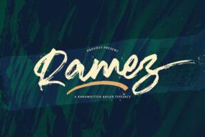 Ramez - Textured Brush Font