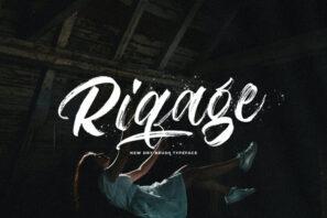 Riqage - Textured Brush Font