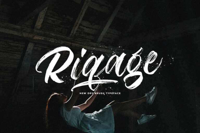 Preview image of Riqage – Textured Brush Font