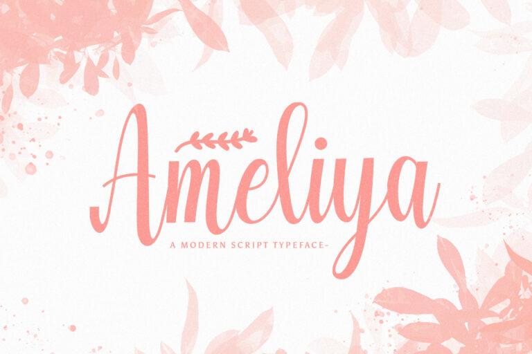 Preview image of Ameliya – Handwritten Font