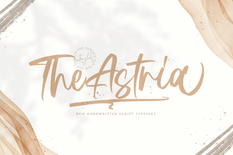 Preview image of Astria – Handwritten Font