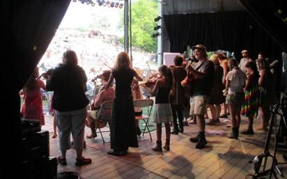 The Great Groove Band at the Philadelphia Folk Festival. Photo by: Susan Deckhart.
