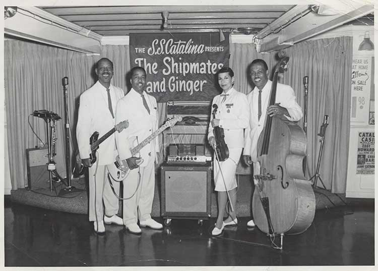 Jazz violinist Ginger Smock with Giner and the Shipmates in 1961