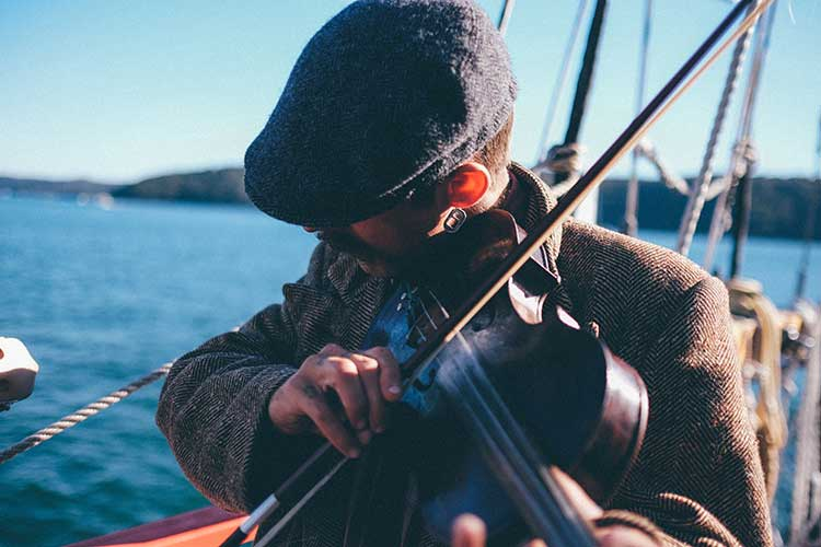 Fiddler on Ireland Strings trip