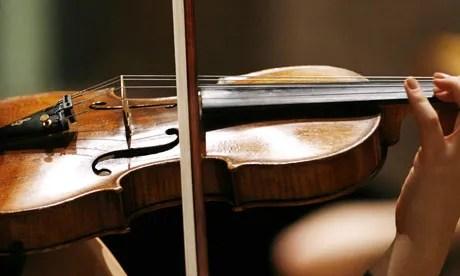 violin bowed 14 steps for improving intonation