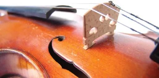 proper string height: Violin strings and bridge