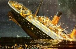 Illustration of the Titanic sinking