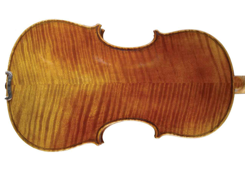 Acoustic Electric Strings Old No. 54 acoustic-electric violin back view