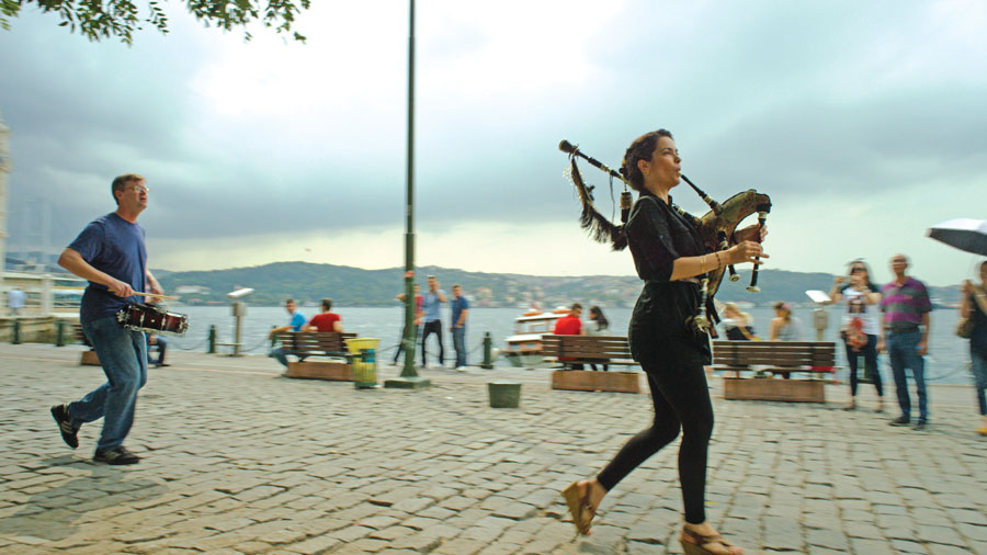 Cristina Pato plays a gaita, or bagpipe, from Galicia, which is located in the northwestern corner of Spain.