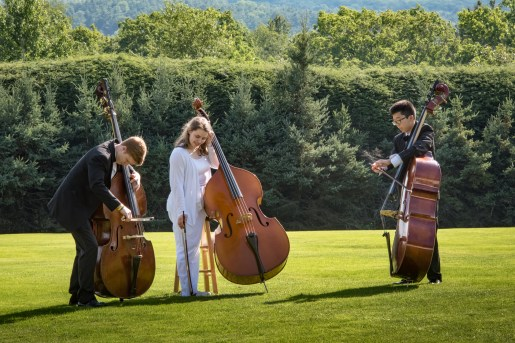 BUTI students on the Tanglewood grounds after the Aug 6 concert. Photo by: Stratton McCrady