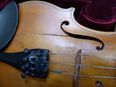 Cracked violin