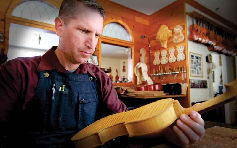 Luthier Eric Benning of Benning Violins, est. 1953 in Los Angeles