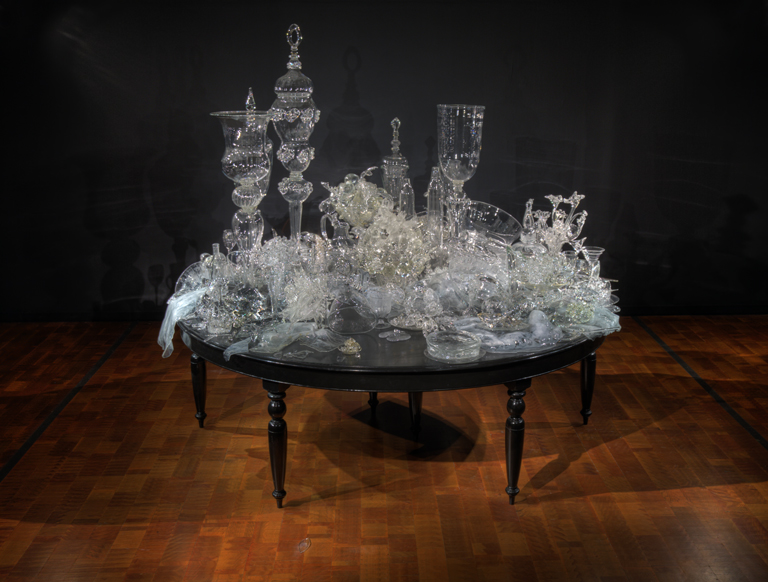 "Beth Lipman, ""Laid Table (Still Life with Metal Pitcher),"" 2007 Photo credit: John R. Glembin"