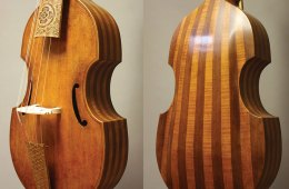 Belly and back of 2017 bass viol Otohime; after Joachim Tielke