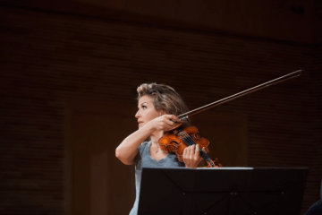 violinist Anne-Sophie Mutter