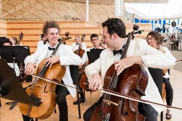 Students practice in orchestra at summer classical music intensive