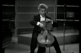 Paul Tortelier with cello