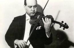 violinist David Oistrakh with violin