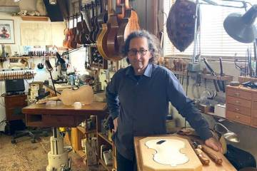 Instrument maker Eric Aceto