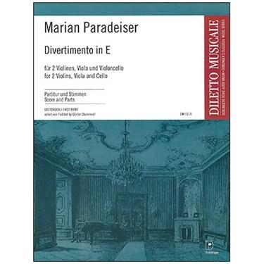 Marian Paradeiser Divertimento in E for two violins viola cello by Doblinger