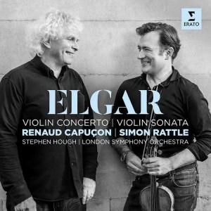 Elgar violin concerto by Renaud Capuçon and Simon Rattle album cover